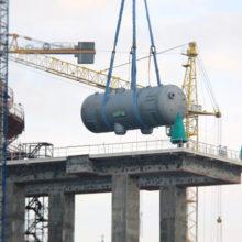На втором энергоблоке Белорусской АЭС завершена установка парогенераторов