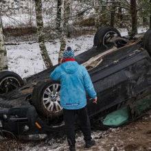 ДТП в Светлогорске:  БМВ Х5 вылетел в кювет