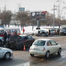 Массовое ДТП в Гомеле: повреждены 5 автомобилей