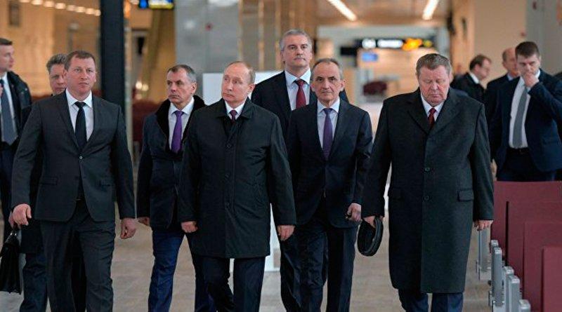 Визит Путина в Крым
