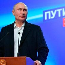 Путин победил на выборах президента РФ с результатом в 77%.