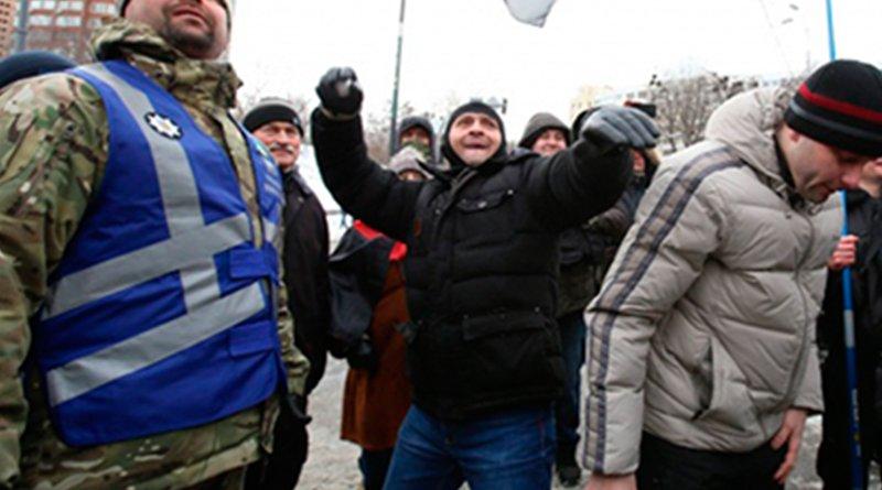 Акция протеста в Киеве. Фото: Громадське телебачення