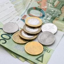 Белорусский рубль продолжает укрепляться к основным валютам