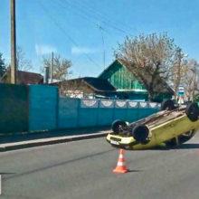ДТП в Гомеле: на Зайцева перевернулась легковушка
