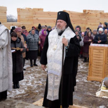 В аг. Залесье заложен храм Святителя Василия Великого