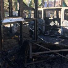 Под Веткой при пожаре сгорели дом и автомобиль