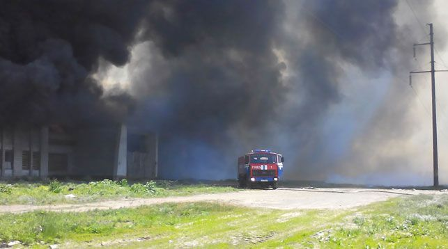 Пожар на пилораме