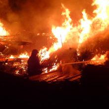 Этой ночью на улице Барыкина был страшный пожар