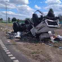 ДТП под Жлобином: столкнулись грузовик и фура