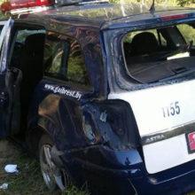 Во время преследования нарушителя автомобиль ГАИ попал в аварию