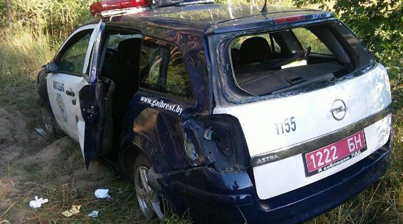 автомобиль ГАИ попал в аварию
