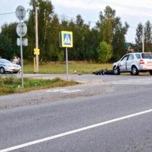 ДТП в Речице: мотоциклист влетел в легковушку