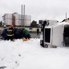 ДТП в Светлогорском районе: столкнулись грузовик и легковушка