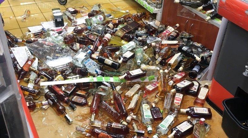 стеллаж с элитным алкоголем
