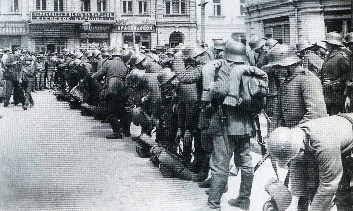 Германские войска в Киеве, 1918 год.