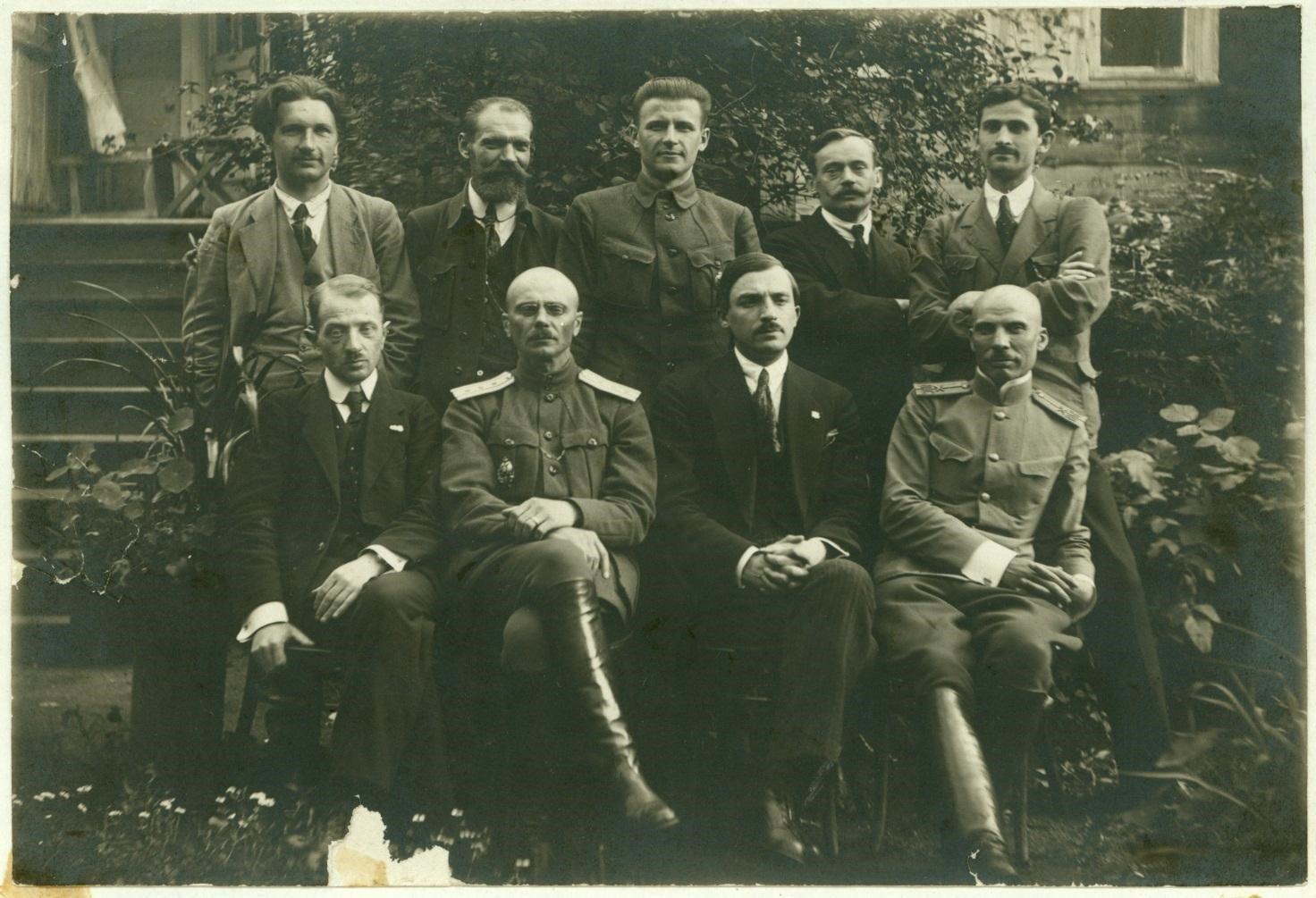 Правительство БНР при немецкой оккупационной администрации, Минск, 1918 год.