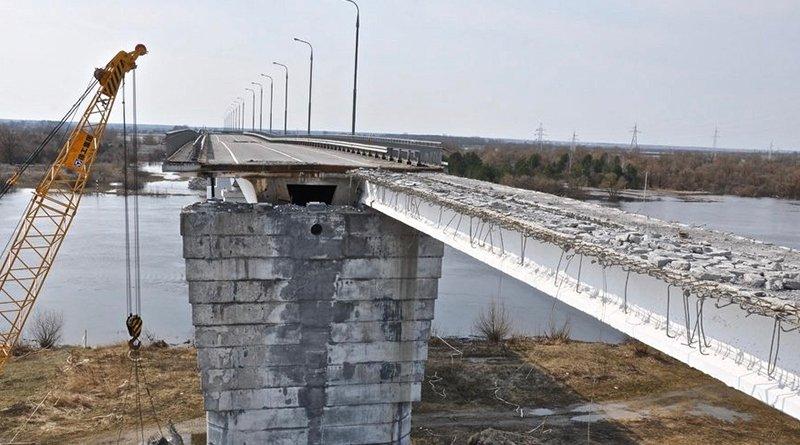 когда будет восстановлено движение по мосту через Припять