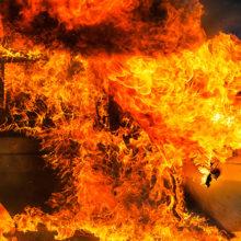 В Речицком районе дотла сгорел BMW X5