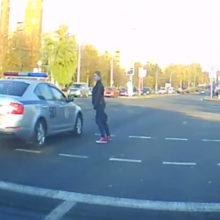 В Гродно пешеход не уступил дорогу президентскому кортежу
