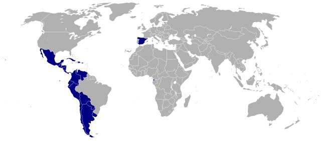 Hispanidad на карте мира