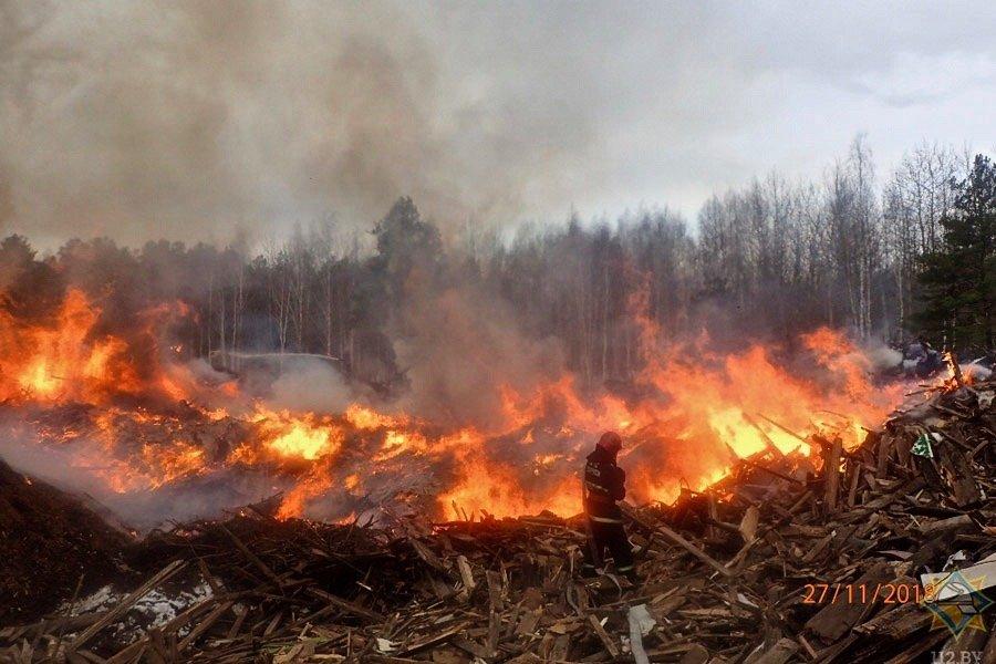 Пожар на гомельском предприятии