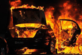 За полтора суток в Гомеле горело три автомобиля