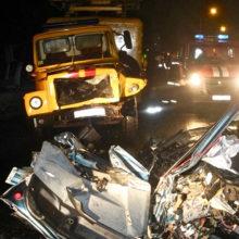 ДТП в Гомеле: Fiat врезался в грузовик, есть пострадавшие