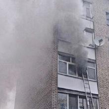 При пожаре в Калинковичах было эвакуировано семь человек