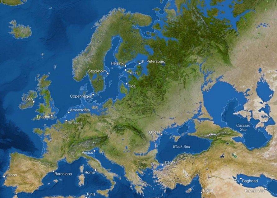 С карт Европы исчезнут Лондон и Венеция