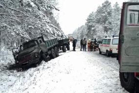 Смертельное ДТП в Лоевском районе: Audi врезалась в грузовик