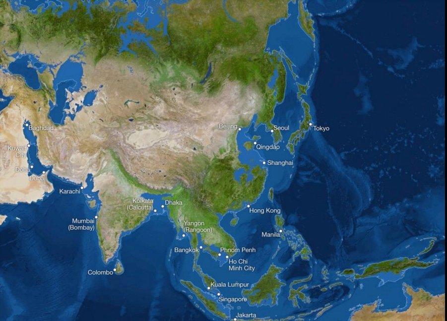 В Азии