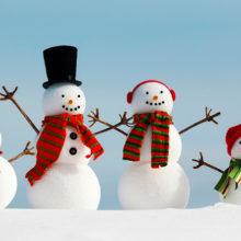 В Рогачеве слепили 45 снеговиков в одном дворе