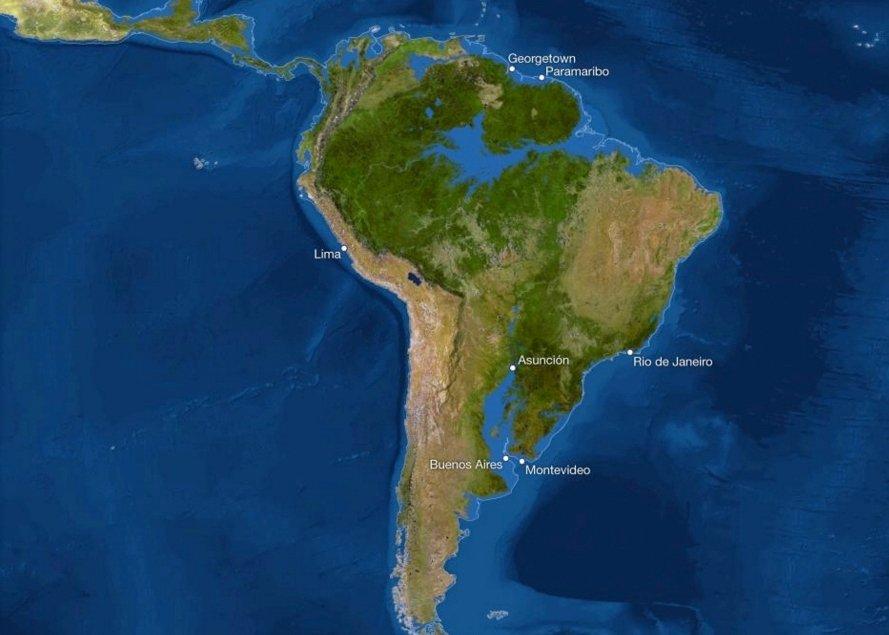 В Южной Америке