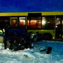 ДТП под Мозырем: столкнулись грузовик, автобус и легковушка