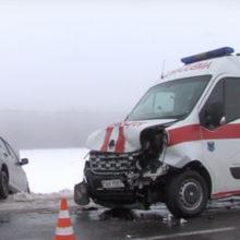ДТП в Мозыре: легковушка влетела в скорую помощь
