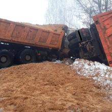 ДТП в Рогачеве: два грузовых МАЗа столкнулись влобовую