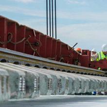 Уложен первый километр железной дороги Крымского моста