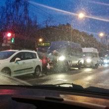 ДТП в Гомеле: перекрыто движение по проспекту Речицкому