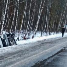 ДТП в Петриковском районе: микроавтобус слетел в кювет