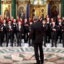 В Исаакиевском соборе хор спел о бомбардировке США