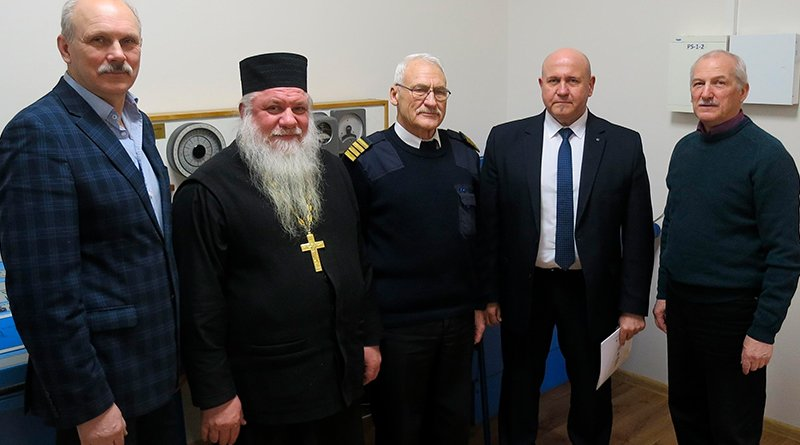 посетил Литовскую высшую морскую школу