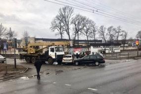 ДТП в Гомеле: столкнулось три автомобиля