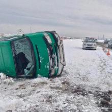 ДТП в Лельчицком районе: Volkswagen съехал в кювет и опрокинулся