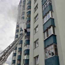 Гомельские спасатели ликвидировали пожар в высотке