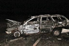 Под Лельчицами в горящем авто обнаружили спящего угонщика