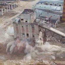 В Орше спасатели взорвали 25-метровое здание