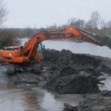 В Добруше прорвало ограждение котлована строящейся ГЭС