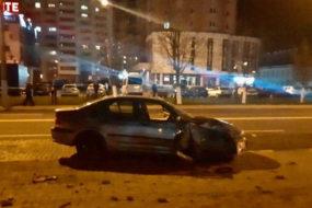 Часть улицы Советской в Гомеле перекрыта из-за ДТП
