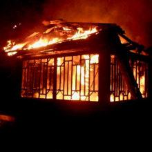 Под Мозырем горел дом. Рассматривается версия поджога
