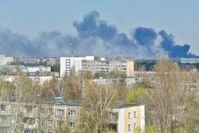Сильное задымление в Советском районе